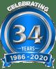 34 Year Logo