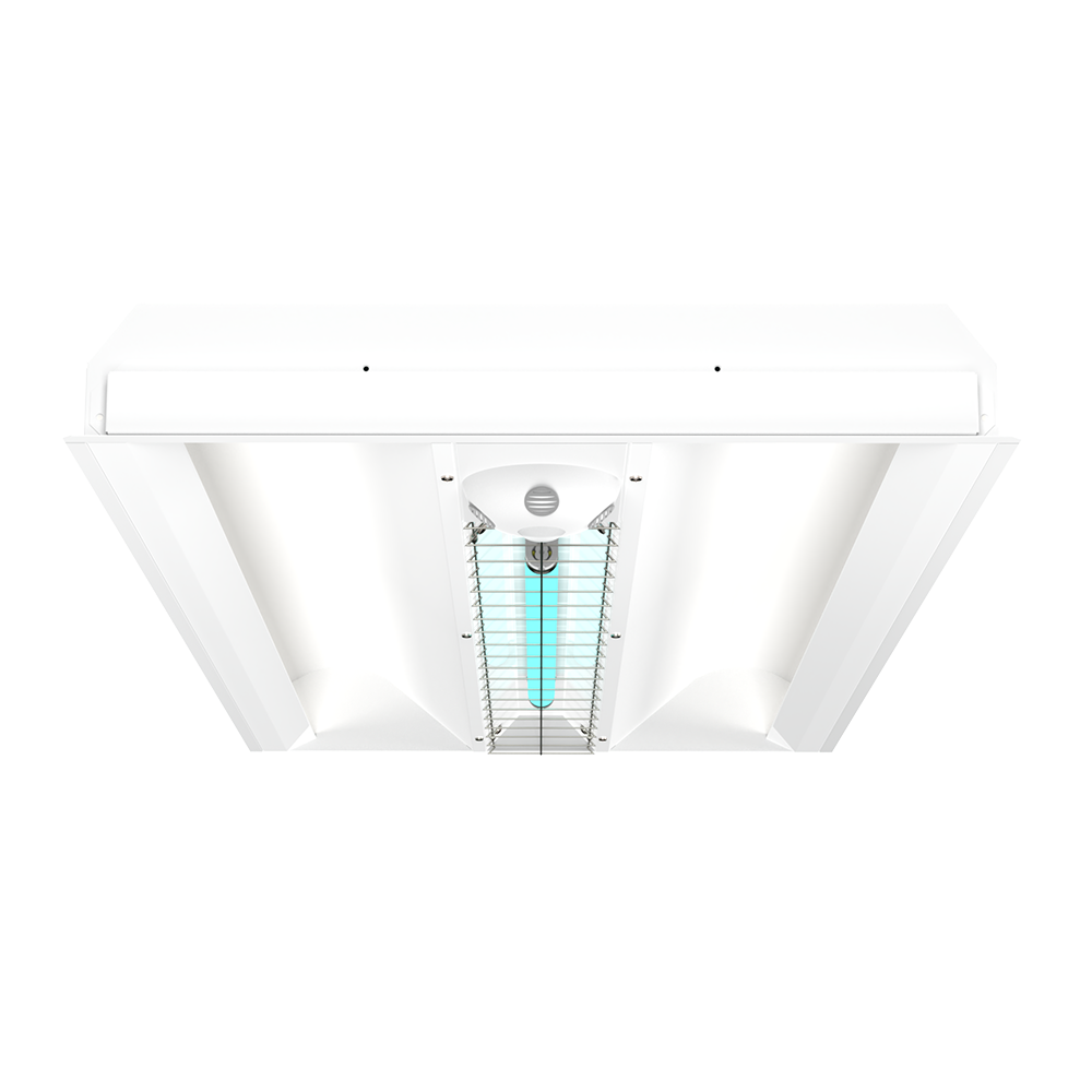 UVC 2x4 Indirect Disinfection Hybrid Troffer Grid Ceiling XtraLight LED Solutions