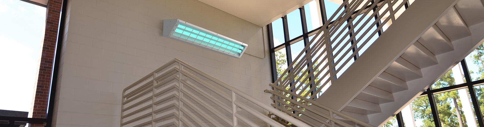 UVC Corner Stairwell Application Banner